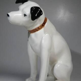 【ネット決済・配送可】レトロなビクター犬、ニッパー犬
