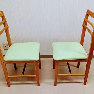 木製 椅子 2脚 差し上げますの画像