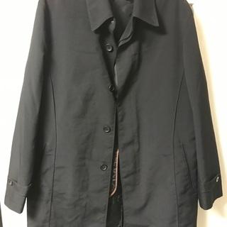 ブラック ステンカラーコート