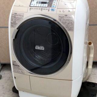㉕【6ヶ月保証付】日立 9kg/6kg ドラム式洗濯乾燥機 BD-V5400R 右開き【PayPay使えます】の画像