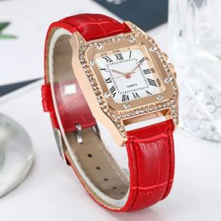 腕時計レディース/RED