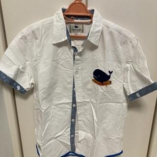 【ネット決済】シャツ白 綿100% Lサイズ(160cm〜170cm)