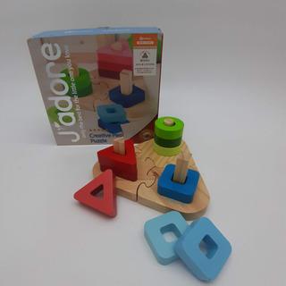 【ネット決済】森のおもちゃ スタッキングパズル 中古品