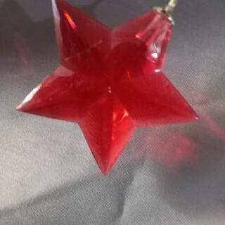 クリスマス飾り イルミネーション (クリスタル)星と三日月