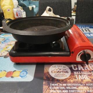 カセットコンロ、鍋のセット
