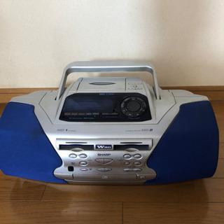 SHARP  MD.CD.カセットコンポ 取説付き