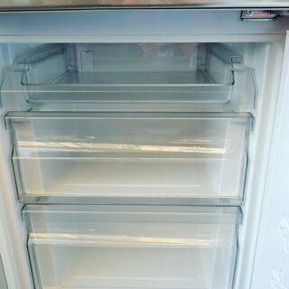 ☆ノジマ NOJIMA エルソニック ELSONIC EH-R1482F 148L 2ドアノンフロン冷凍冷蔵庫◆2018年製・スタイリッシュさと大人のシックさを演出 - 家電