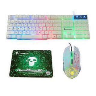 ゲーミングキーボード&マウス&マウスパッド
