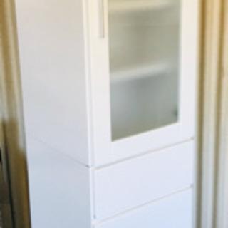 食器棚✨キッチン収納✨ホワイト✨上下分割可能✨清掃済😻