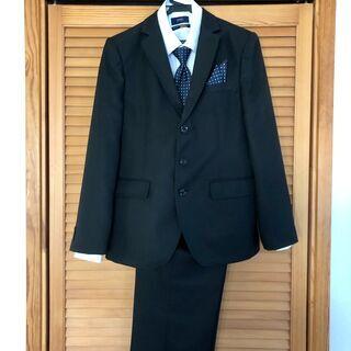 男児用スーツ(165cm,黒、ジャケットとパンツ)