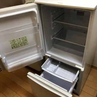 【ネット決済・配送可】シャープ製 ノンフロン冷凍冷蔵庫 137L