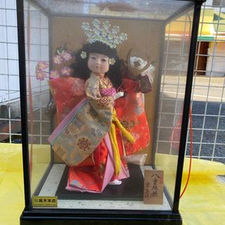 日本人形 八重垣姬京玉作 ケース付け中古美品