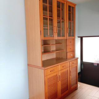 商談中★12/27頃までの出品、大きい茶色の食器棚