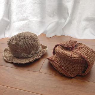 麦わらキャップと麦わらバケットハット、麦わら帽子
