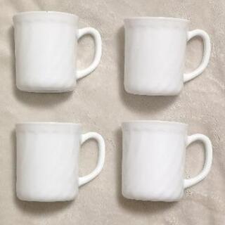 マグカップ 4つセット シンプル 白