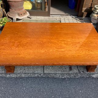 屋久杉 座卓 テーブル 和室 応接机 ローテブル 木製 中古