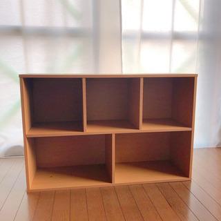 お譲り先が決まりました!茶色の五段ボックス、カラーボックス
