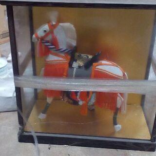 和風 馬の日本人形