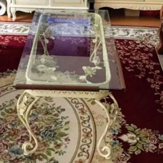 アンティークガラステーブル