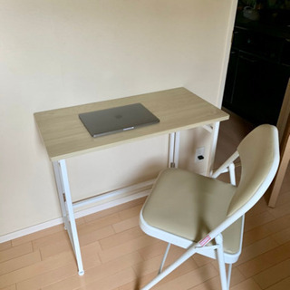 折りたたみデスク 椅子 テレワーク用デスク 2点セット