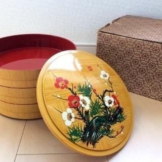 重箱重箱 円型 3段 おせち お弁当 お正月