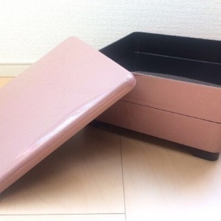 スモーキーピンクの重箱 お弁当箱 おせち お正月 お花見 ピクニックに