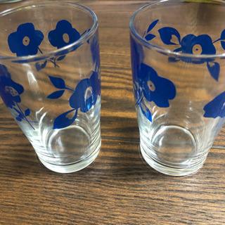 グラス レトロ 2個セット