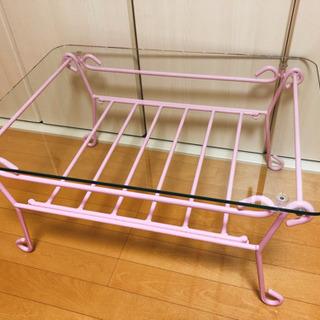 ✴︎値下げしました✴︎ ガラステーブル ピンク