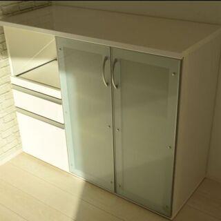 【美品】食器棚 キッチン収納棚 キッチンカウンター ダイニ…