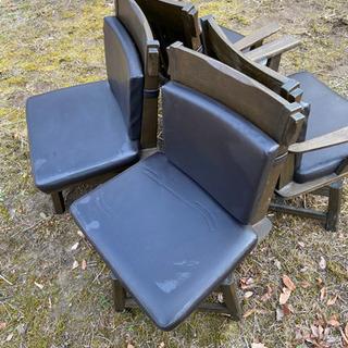 木製椅子4脚