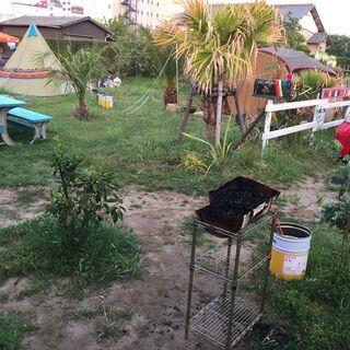 ★テントサイト貸します。千葉deハワイ気分(^^♪ 椰子の木とハ...
