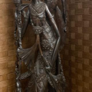 ラーマーヤナ ラーマとシータ 木製 オブジェ ヒンドゥー教