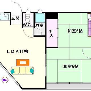 【丸三住宅】Aタイプ!2LDKタイプ!同潤会アパートを彷彿とさせ...