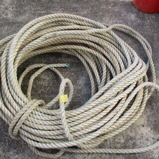 業務用 漁師が使用していた丈夫なロープ 水に強い 長さ約40m ...