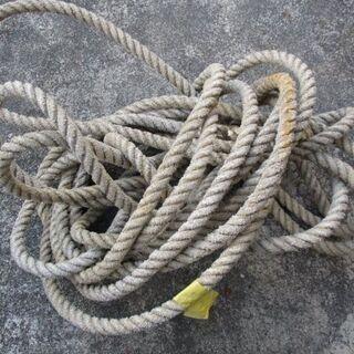 業務用 漁師が使用していた丈夫なロープ 水に強い 長さ約10m ...