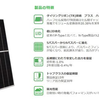 最新・最高性能の太陽光発電パネルを売ります