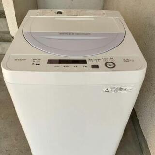 【販売中】シャープ 全自動電気洗濯機 ES-GE5A-V 201...
