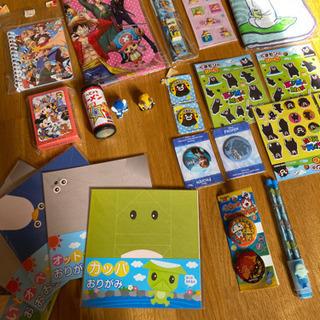 折り紙、缶バッチ、手帳、シール、トランプなど24個