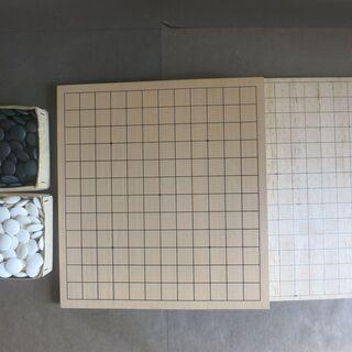 未使用に近い  碁盤 1枚+自作碁盤(バルサ材軽量)計2枚