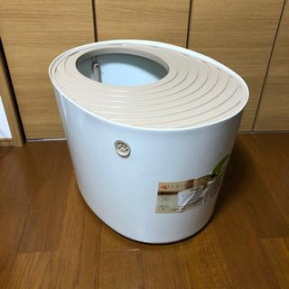 IRIS 上から猫トイレ (スコップ付)+ 木製猫砂