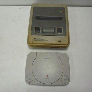 ゲーム機 本体2台セット スーパーファミコン/PSone 動作未...
