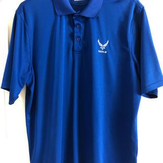 (未使用) 米空軍ロゴ入りポロシャツ