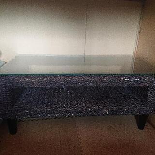 籐 ガラス 台