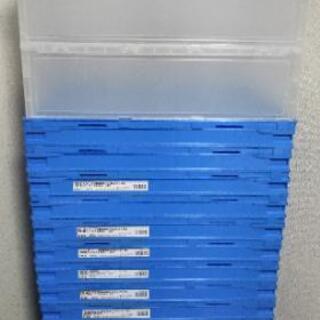 アスクル「現場のチカラ」 軽量薄型 折りたたみコンテナ フタ無 50Lタイプ ブルーの画像