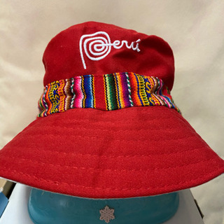 未使用!ペルーのハット!帽子、リバーシブル、