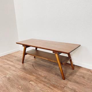 地域限定 定価:15,176円 ニトリ 天然木 棚付テーブ…