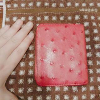*オーストリッチ、ピンク財布