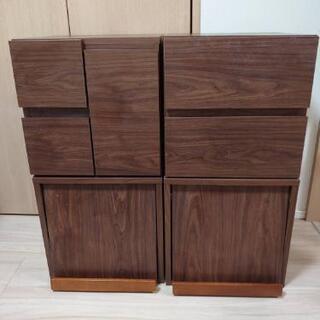【急募12/17引取限定】木製キャビネット4個セット