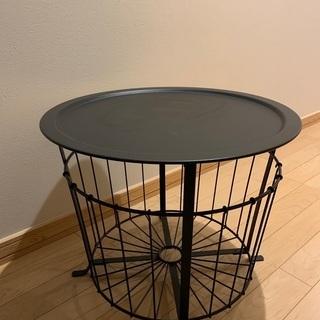 IKEA スチール製サイドテーブル