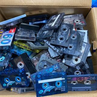 生カセットテープ大量、約100個